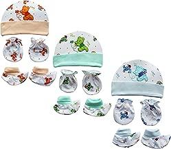 My Newborn Baby Mitten Cap and Booty Set - Set of 3 Packs