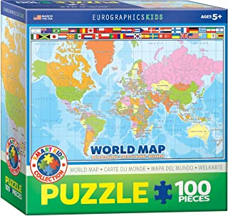 World Map Eurographics Kids 100 Pieces