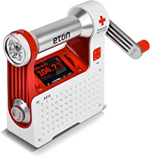 Eton autoalimentado Seguridad Hub con Radio de Clima y USB Cargador de teléfono Celular, Un Solo Color, Una Talla