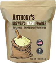 Anthony's Brewer's Yeast, 1lbs, Made in USA, Gluten Free, Unflavored and Unsweetened
