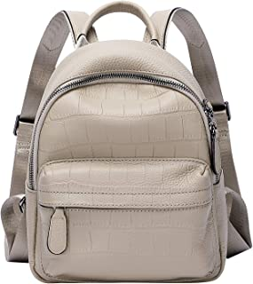 ALTOSY Mini Backpack for Women Genuine Leather Backpack Purse Ladies Casual Daypack Crocodile Bag