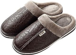 CELANDA Slippers Women's Men's Plush Winter Slippers Women Memory Foam House Mule Slippers Non-Slip Sole Slippers Size: 9/...
