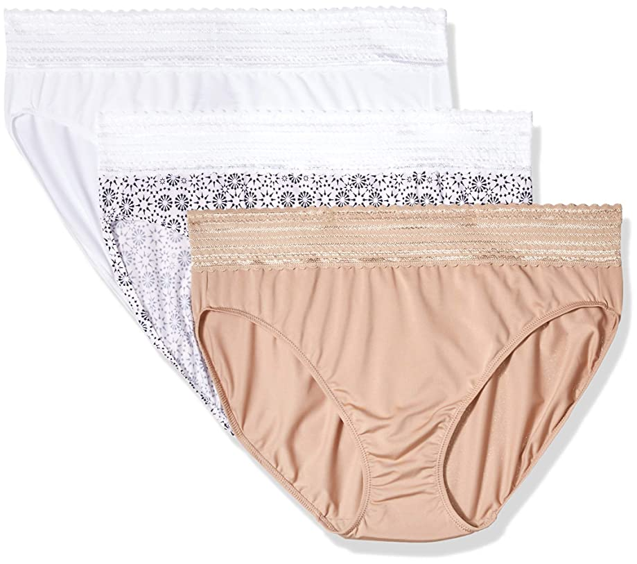 Warner's Women's No Pinching No Problems Tailored Brief 3 Pack Panties