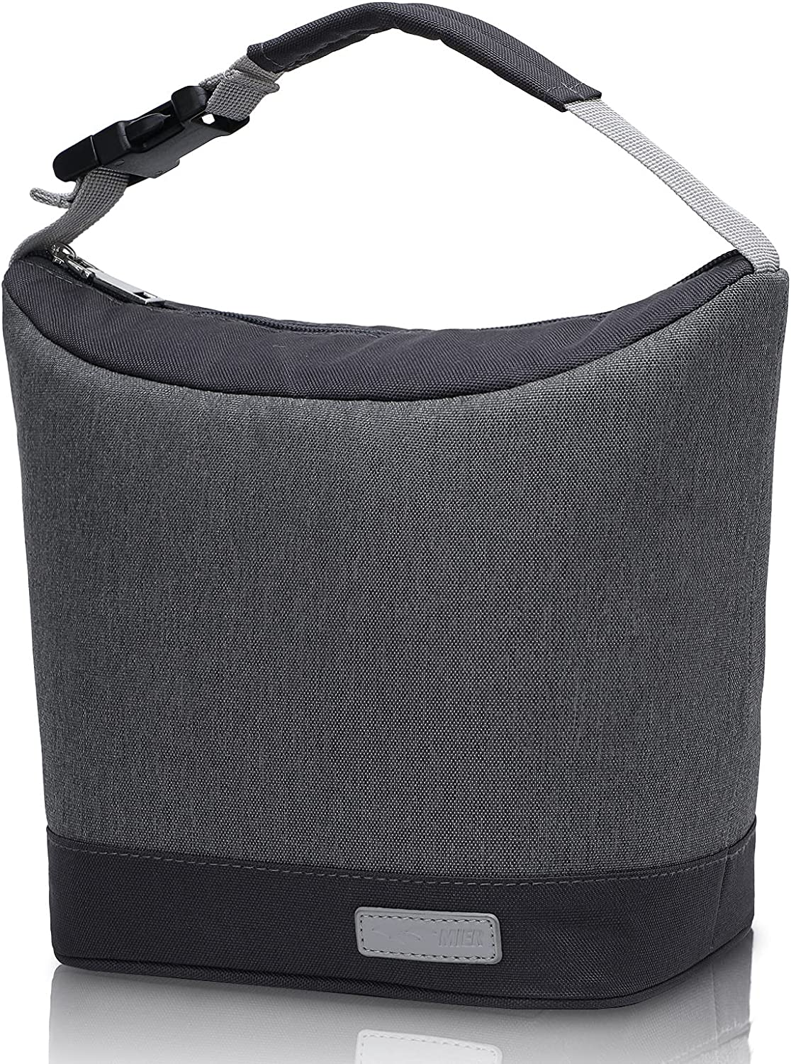 MIER Small Lunch Bags for Women Insulated Lunch Box Tote for Girls Boys Men Portable Leakproof Lunch Cooler Bag for Work Office School Picnic Travel (Dark Gray)
