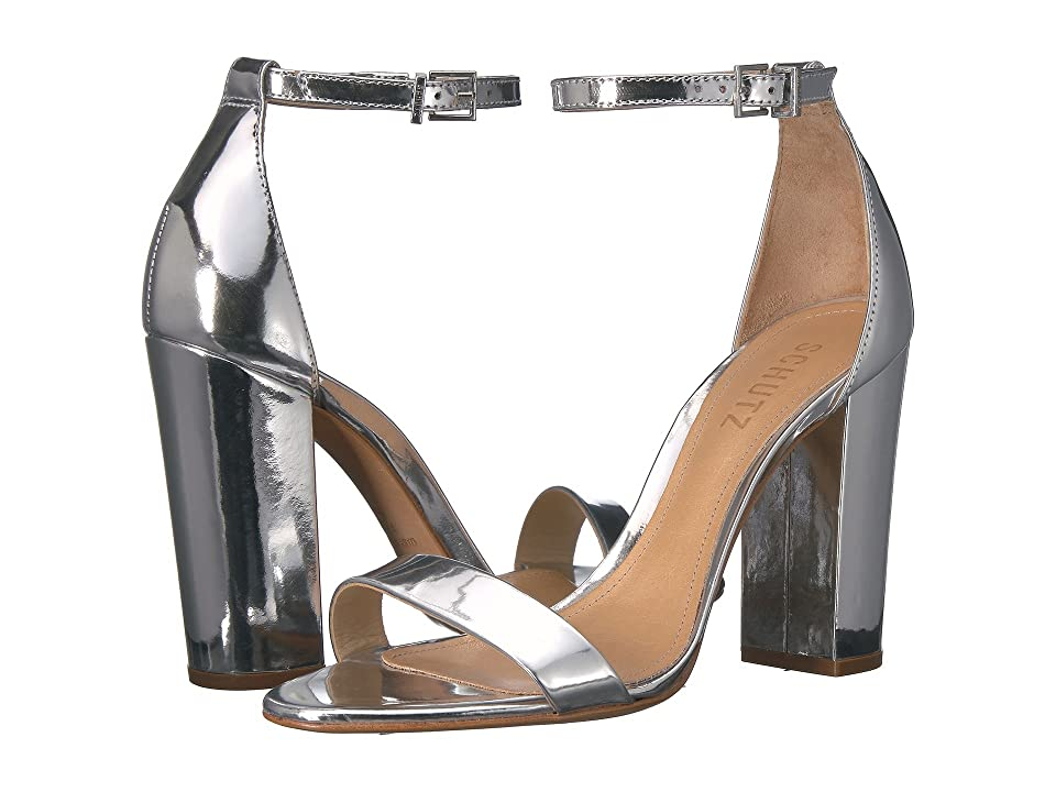 Schutz Enida (Prata) High Heels