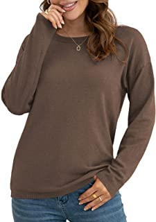 Sponsored Ad - VIISHOW Women's Pullover Sweaters Long Sleeve Lightweight Knitted Crew Neck Sweater Tops