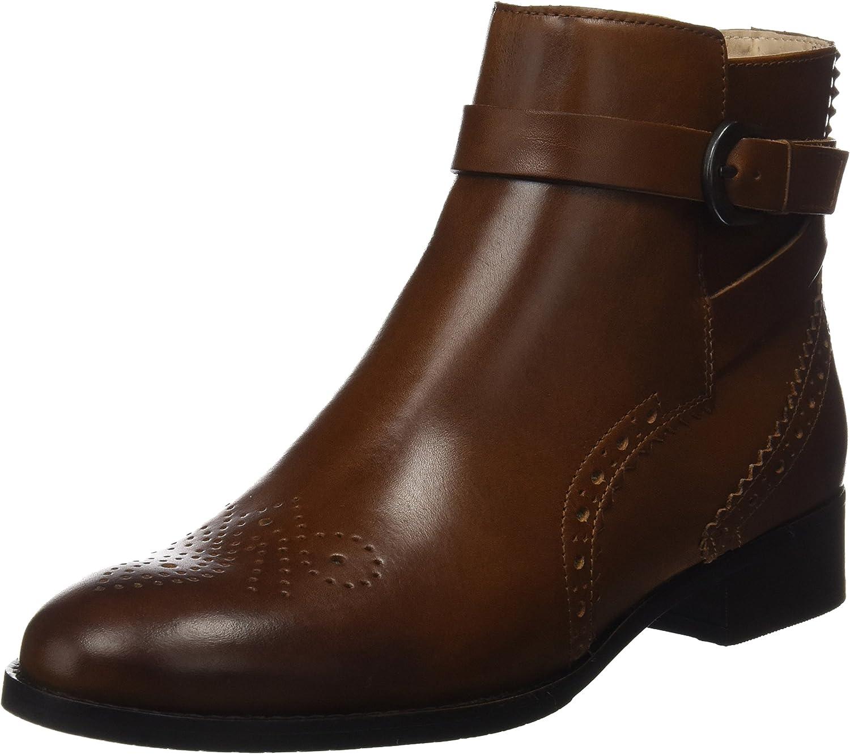 Clarks Womens Boot Netley Olivia Tan Leather