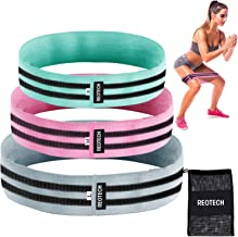 REOTECH Fabric Exercise Resistance Bands Non-Slip Loop Bands for Legs and Booty,Non-Rolling Thick Wide Perfect Training Bands for Squats, Legs, Thigh and Hip Bands Workout + Carrying Bag