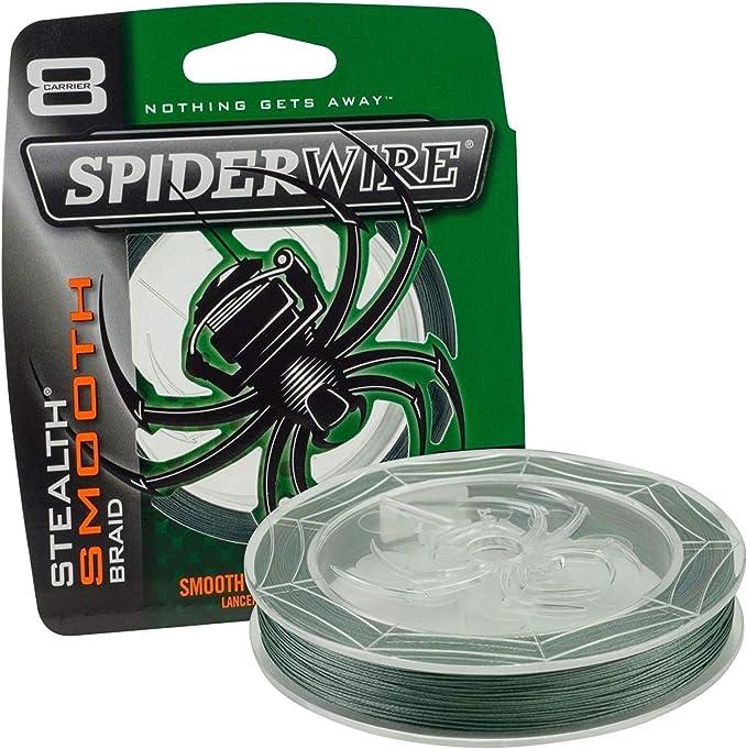 SPIDER WIRE 150 MT 0,17 MM CAMO BROWN BRAID STEALTH SMOOTH 8 FILI ORIGINALE USA