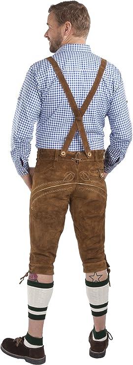 Schöneberger Trachten Couture Aleman Lederhosen marrón - Trajes bávaros Masculinos con pantalón - Pantalón Oktoberfest