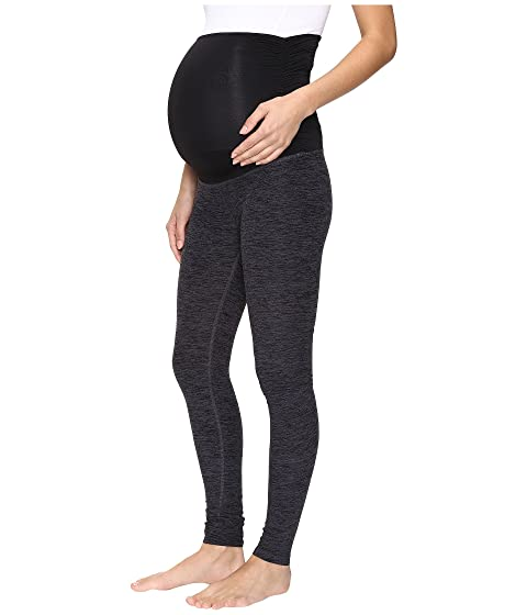 Negro Spacedye Maternity Yoga largos Leggings Beyond Acero Fold Down nwTaqWYZ