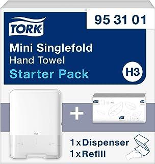 Tork 953101 Kit de inicio mini / 1 x Dispensador + 1 x Recambio de toallas de mano para el sistema de toallas entredoblada...