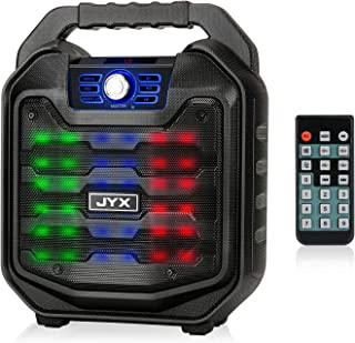 JYX Bluetooth Speaker with Sound Activated Light and Remote, Portable Wireless Speaker Support MIC Input, FM Radio, REC, U...