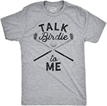 Mens Talk Birdie to Me Funny Golf T Shirt Golfing Gifts for Dad Golfer Humor