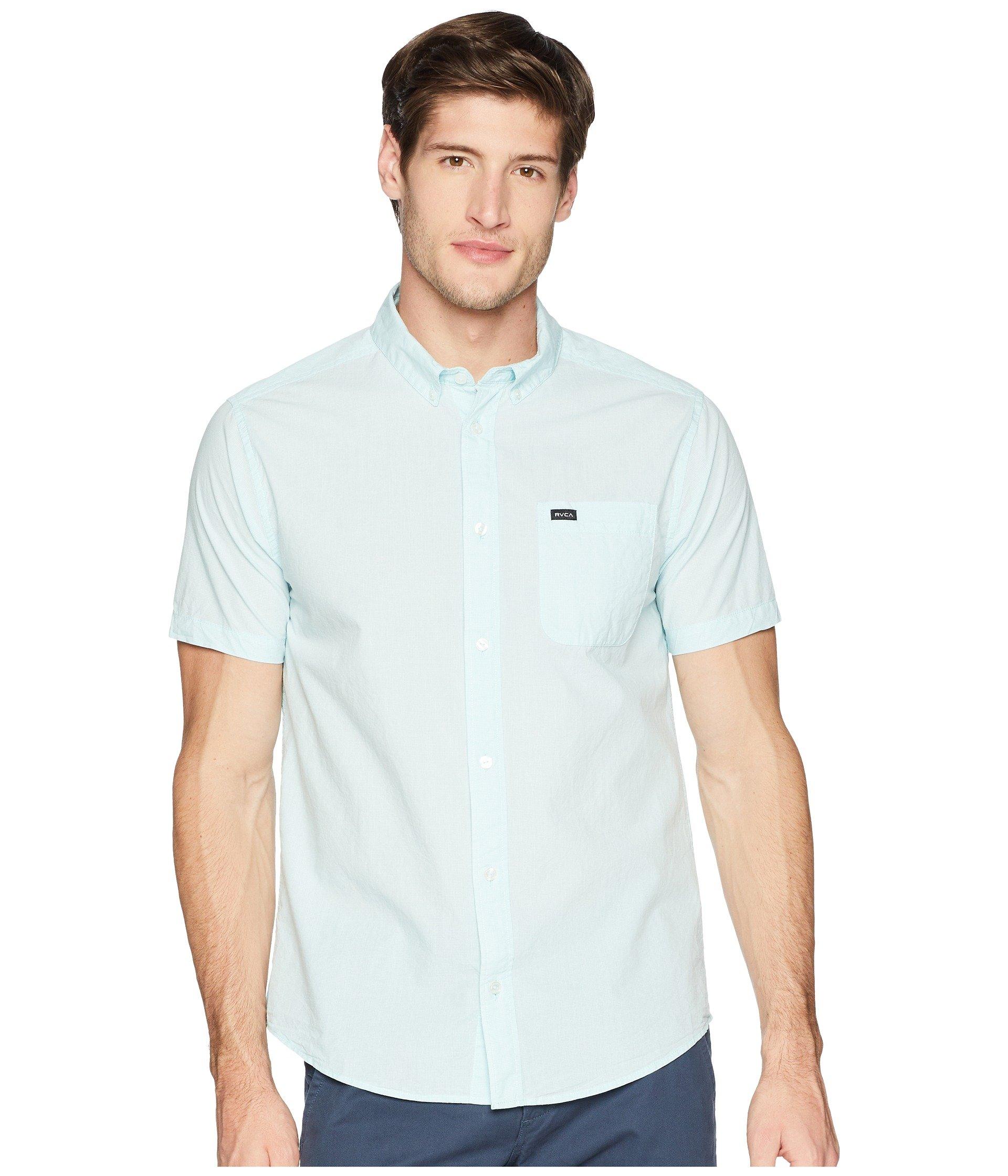 RVCA Men's Thatll Do Micro Short Sleeve Woven Shirt
