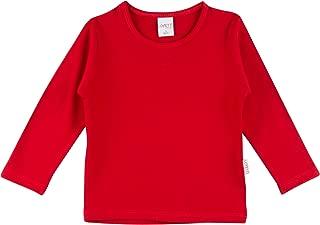 Girls' Basic Long Sleeve Round Neck T-Shirt