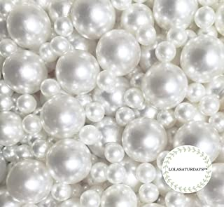 Best loose faux pearls without holes Reviews