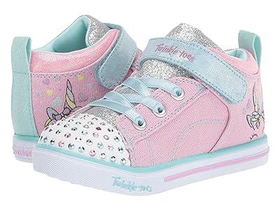 SKECHERS KIDS Twinkle Toes Sparkle Lite 20329N (Toddler/Little Kid) (Pink/Light Blue) Girl