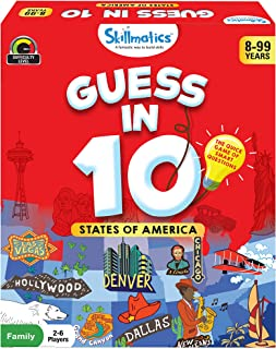 Skillmatics Guess in 10 States of America - Card Game of Smart Questions for Kids & Families | Super Fun & General Knowled...