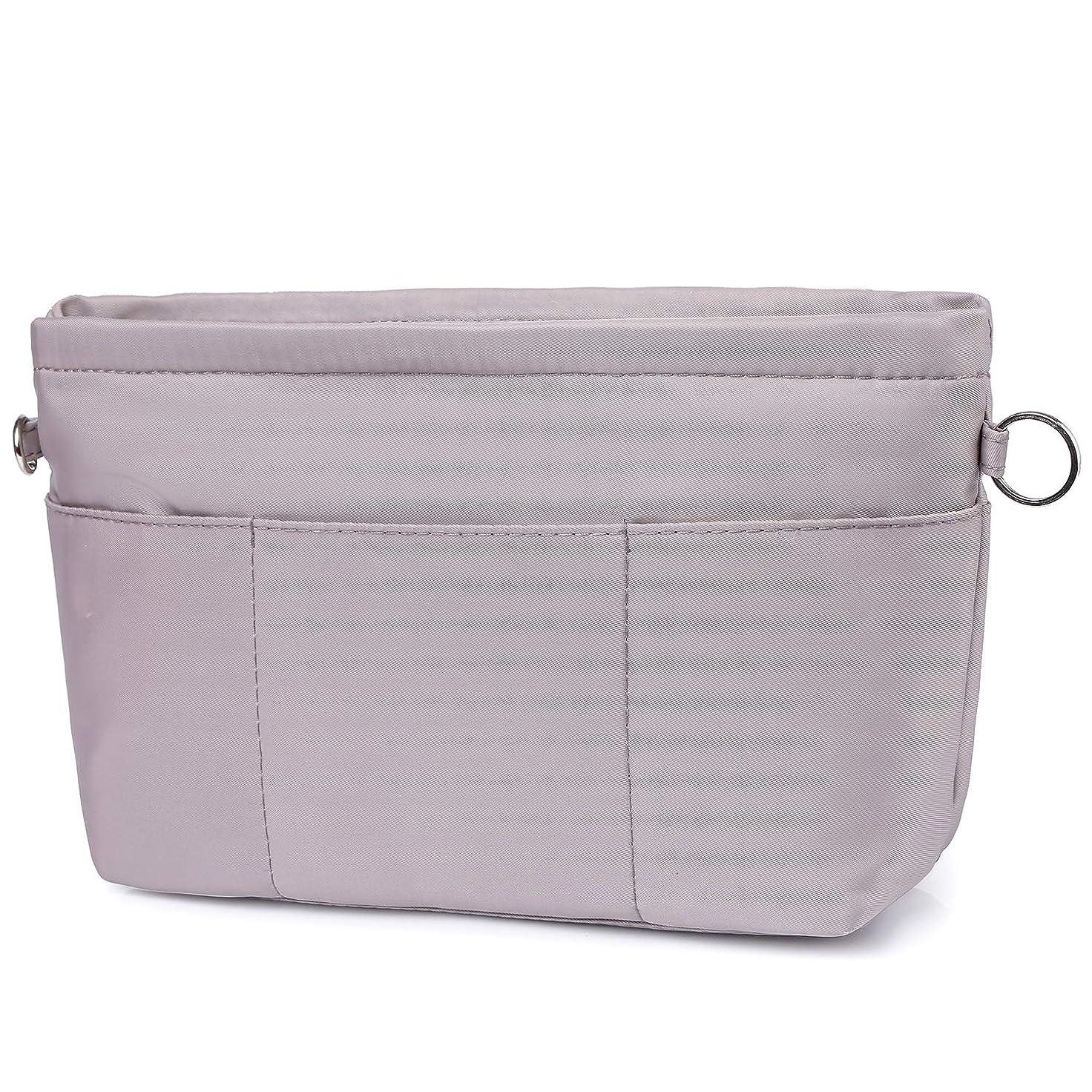 卵エレクトロニック省略するVANCORE バッグインバッグ 自立 軽量 Bag in Bag トート用 バッグの中 整理 整頓 カバンの中 仕切り 通勤 旅行 レッド M