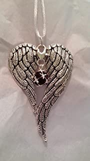 January Birthstone Angel Wings Memorial Ornament