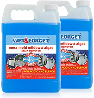 Set of 2 Wet and Forget Moss, Mildew and Algae Stain Remover