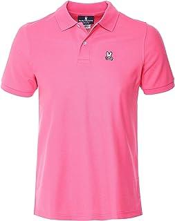 Psycho Bunny Men's Pima Cotton Classic Polo Shirt Pink