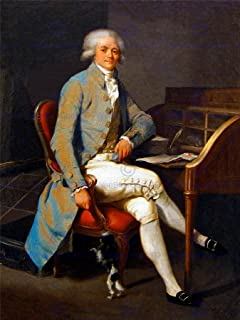 Wee Blue Coo PAINTING PORTRAIT BOILLY LAWYER MAXIMILIEN ROBESPIERRE FRAMED PRINT F12x9728