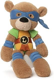 GUND Teenage Mutant Ninja Turtles Leonardo Fuzzy Bear Stuffed Animal Plush, 13.5