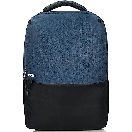 Wesley Milestone 2.0 15.6 inch 30 L Casual Waterproof Laptop Backpack/Office Bag/School Bag/College Bag/Business Bag/Unisex Travel Backpack (Blue and Black)