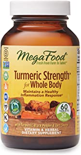 MegaFood, Turmeric Strength for Whole Body, Maintains a Healthy Inflammation Response,..