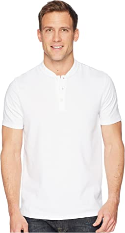 Stretch Solid Jacquard Henley