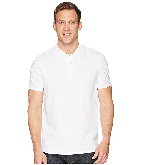 Jacquard Perry Ellis Henley Stretch Solid natYa