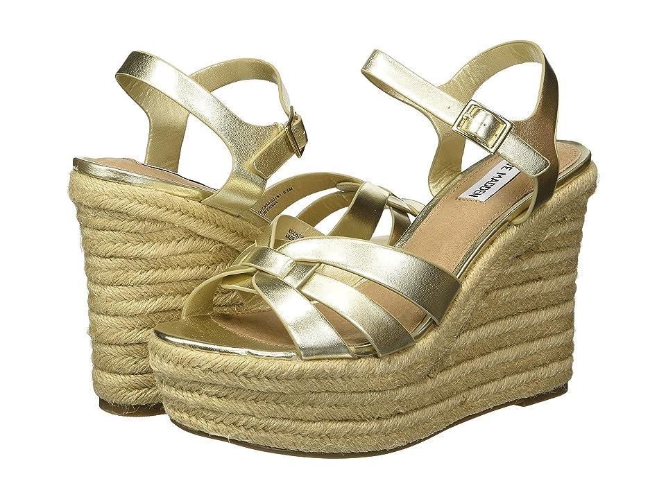 Steve Madden Knight Espadrille Wedge Sandal (Gold) Women