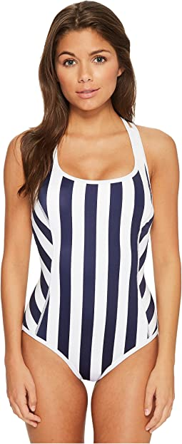 IslandActive Stripe Tank One-Piece Swimsuit