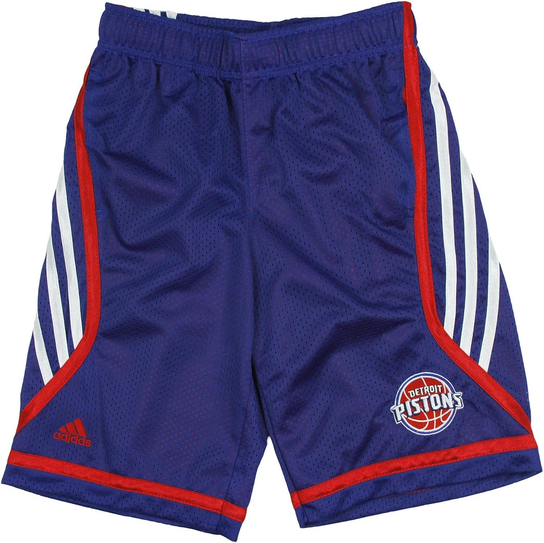 adidas Detroit Pistons NBA Big Boys Chosen Few Illuminator Shorts, Blue