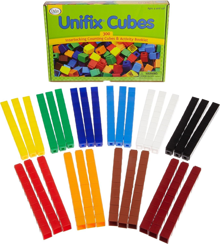 ahorra hasta un 80% Unifix Cubes Cubes Cubes – Paquete de 300 – 10 Colors  al precio mas bajo