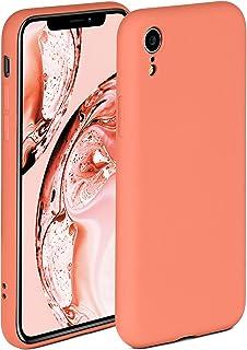 ONEFLOW Soft Case kompatibel mit iPhone XR Hülle aus Silikon, erhöhte Kante für Bildschirmschutz, zweilagig, weiche Handyhülle   matt Koralle