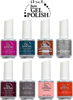 8 Piece IBD Just Gel Polish Soak Off LED UV Salon Spa Floral Metric Collection by IBD