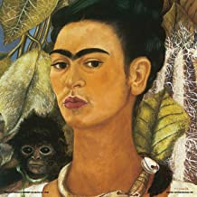 Culturenik Frida Kahlo Self Portrait with a Monkey Decorative Fine Surrealist Art Poster Print 12x12