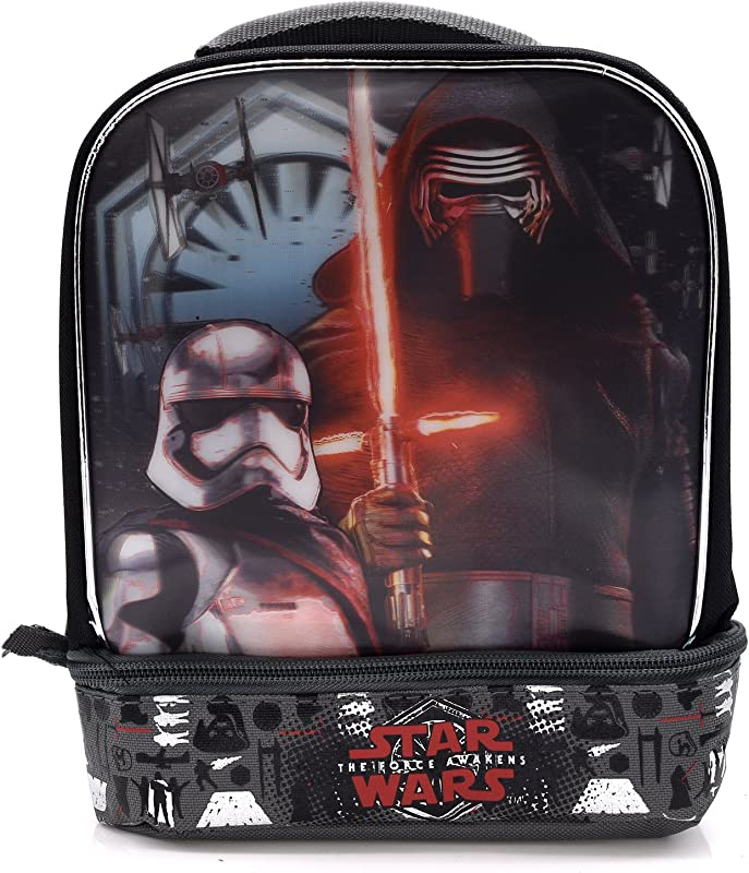 Star Wars The Force Awakens Kylo Ren The Dark Side Kids Insulated 2 Section Padded Lunch Bags Lunchbox
