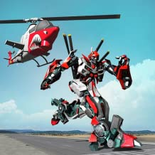Helicopter Robot Transformation Game - Chopper Simulator Challenging Action Games for Kids