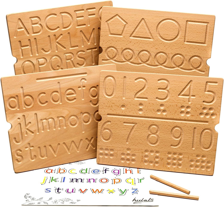 Hulats Wooden Alphabet Tracing Columbus Mall Mo Board Long-awaited Number