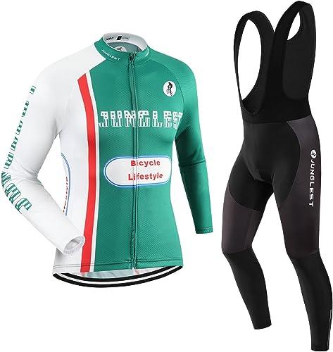 Maillot de Cyclisme Homme Manches Longues Jersey(S5XL,Option Cuissard,3D Coussin) N85