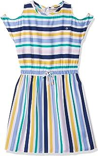 فستان كاجوال للفتيات متعدد الاستخدامات مخطط من كالفن كلاين