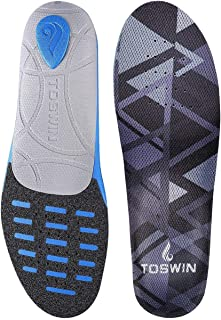 Sports Insoles Shock Absorption Cushioning Shoe Insert with Anti Fatigue Arch Support Heel Cups for Running Hiking and Various Sports Activities (L)
