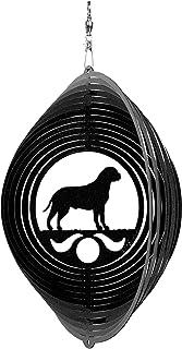 SWEN Products Bull Mastiff Circle Swirly Metal Wind Spinner