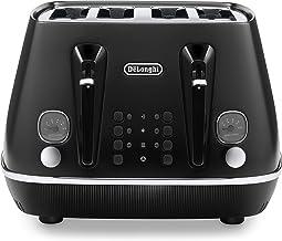 De'Longhi Distinta Moments, 4 Slice Toaster, CTIN4003BK, Black
