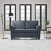Everlane Home Willow Upholstered Sofa and Loveseat with Rolled Arms – Contemporary, Casual, Cozy, and Comfortable Love Sea...