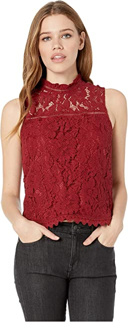 Up To Here Sleeveless Lace Top